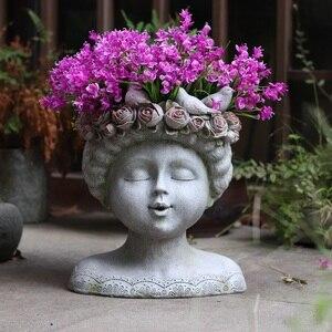 Garden Statue Vase Figurines H
