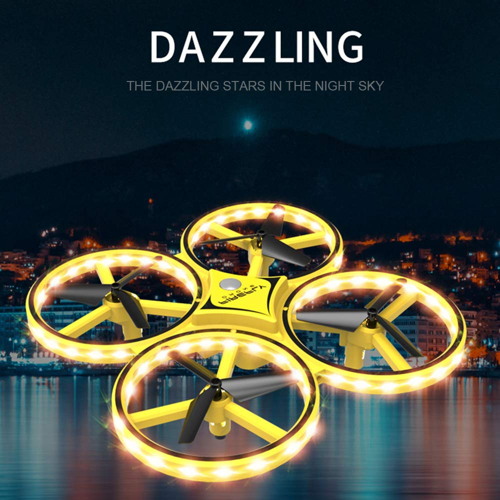 ZF04 RC Drone Mini Infrared Induction Hand Control Drone Altitude Hold 2 Controllers Quadcopter for Kids Toy Gift 4