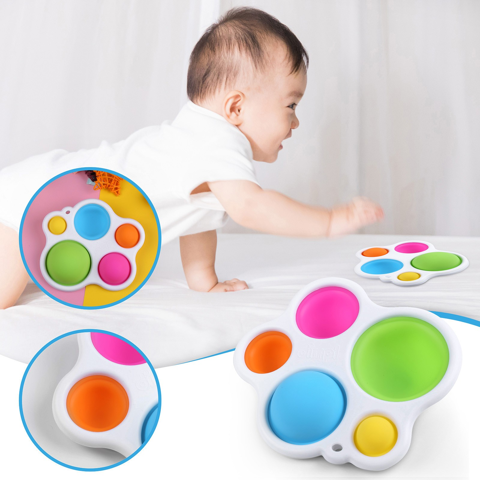Baby Toys Montessori Push Bubble Infant Puzzle Intelligence-Development Intensive Early-Education