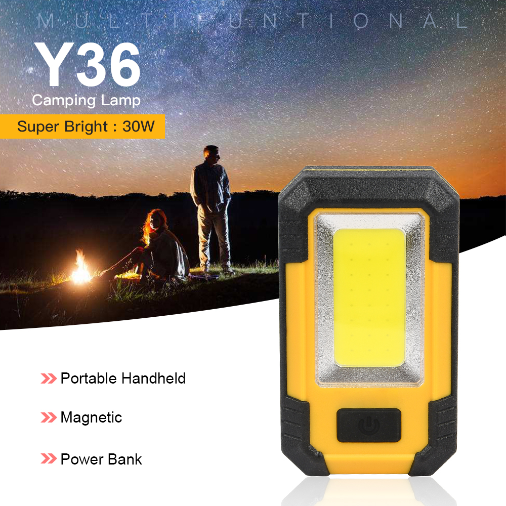 30W Led Portable Work Light Super Bright LED Emergency Light Rechargeable Outdoor Waterproof COB Camping Lamp