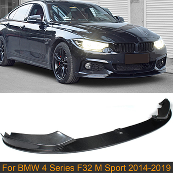 Car Front Bumper Lip Spoiler for BMW 4 Series F32 M Sport Bumper 435i 2014-2019 Front Lip Spoiler Carbon Fiber /Gloss Matte ABS image