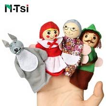 Детские игрушки, животные, семейные пальчиковые куклы, деревянные Мультяшные театральные мягкие куклы, детские развивающие игрушки для детей, популярные подарочные игры