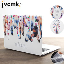 New Print Art Feather Laptop Case For MacBook Air Pro Retina 11 12 13 15 inch with Touch Bar + Keyboard Cover(China)