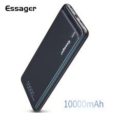 Essager cargador de batería externo portátil para iPhone, SAMSUNG, Xiaomi, 10000mAh, USB Dual Delgado