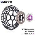 MTB 10 скоростей 11-50T SLR2 Ультралегкая Кассета для M7000 m6000 10s 50T k7 360g CNC самоходные велосипедные звездочки