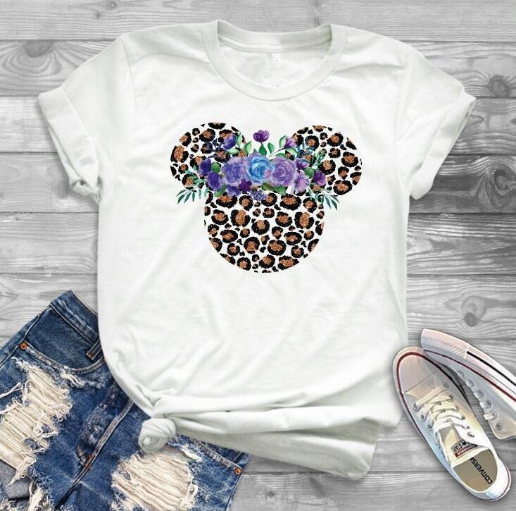 Женская модная футболка с рисунком Минни Маус, Милая футболка с ушками мышки, хипстерская женская футболка, праздничные футболки