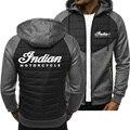 Новинка 2021, мужские толстовки с логотипом индийского мотоцикла, куртка на весну и осень, Повседневная Толстовка, толстовка с длинным рукаво...