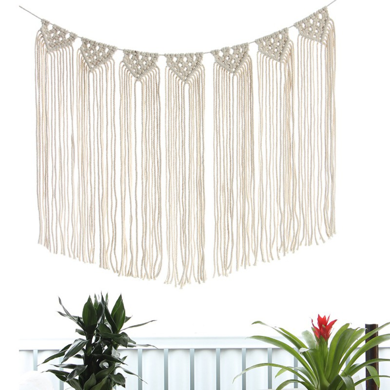 Wall Hanging Boho Chic Bohemian Macrame Woven Home Art Decor Apartment Dorm Room Decoration