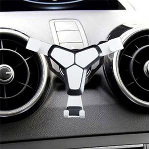 Image 4 - Araba hava firar çıkışı dağı standı klip telefonu tutucu Audi A1 A3 evrensel cep telefonu yerçekimi braketi iphone android