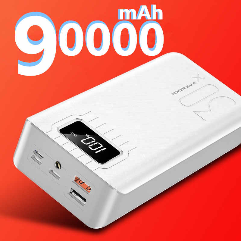 Power Bank 90000mAh Tragbare Lade Poverbank Pack Ladung Externe Batterie Power Für iPhone Xiaomi Samsung Huawei