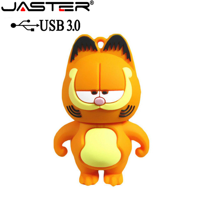 JASTER USB 3.0 Pen Drive Garfield Cat 4GB 16GB 32GB 64GB Usb Flash Drive Memory Stick Pendrive Pendriver Mini Gift Free Shipping