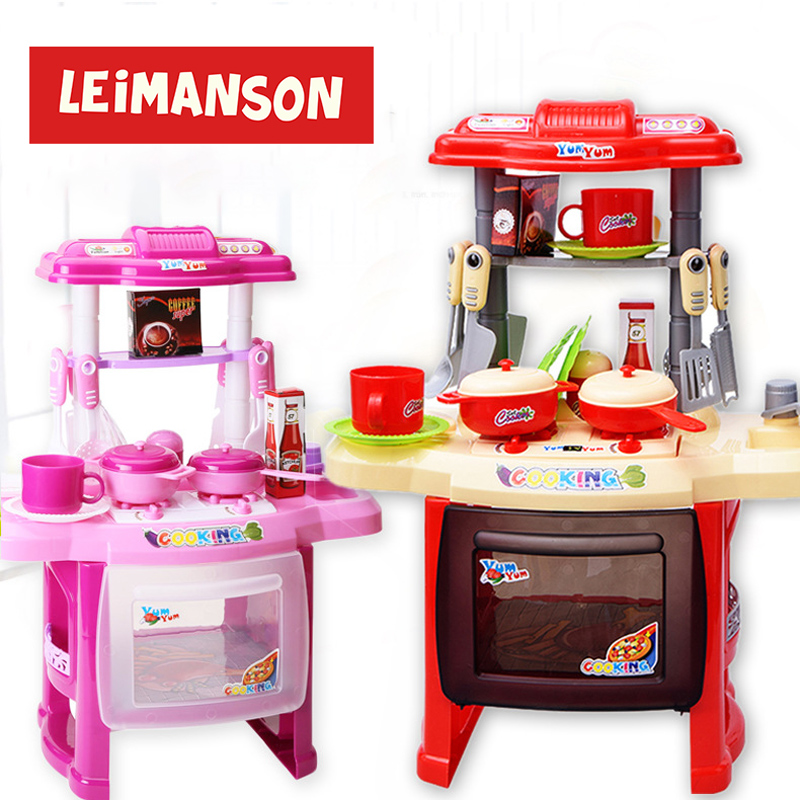 Girls Toys Juguetes Niños Kitchen Toys Cozinha Infantil Kids Kitchen Set Pretend Play Miniature Food Kitchen Set For Kids