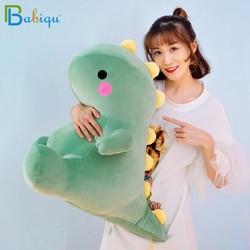 25-50cm super macio adorável dinossauro boneca de pelúcia dos desenhos animados animais de pelúcia dino brinquedo para crianças bebê abraço boneca sono travesseiro decoração de casa