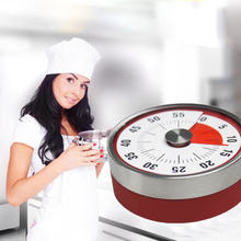 Kitchen Countdown Timer Alarm Mechanical 60 Minute Clock Stainless Steel