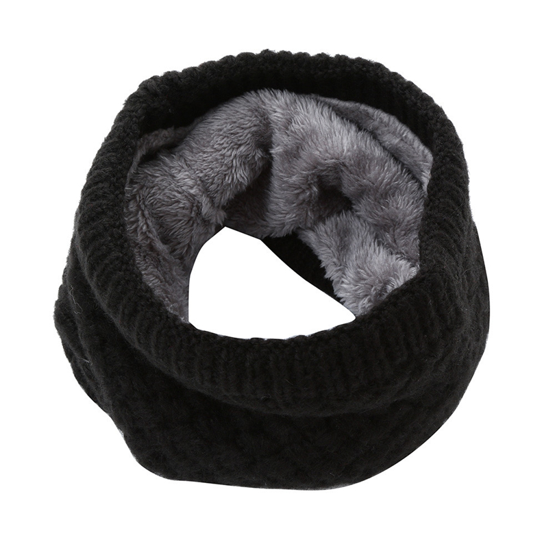 Female Warm Cashmere Tube   Scarf   Children Knitted Cowl Neck Shawls   Wraps     Scarves   Men Women Winter Snood Wool Collar Neck A20