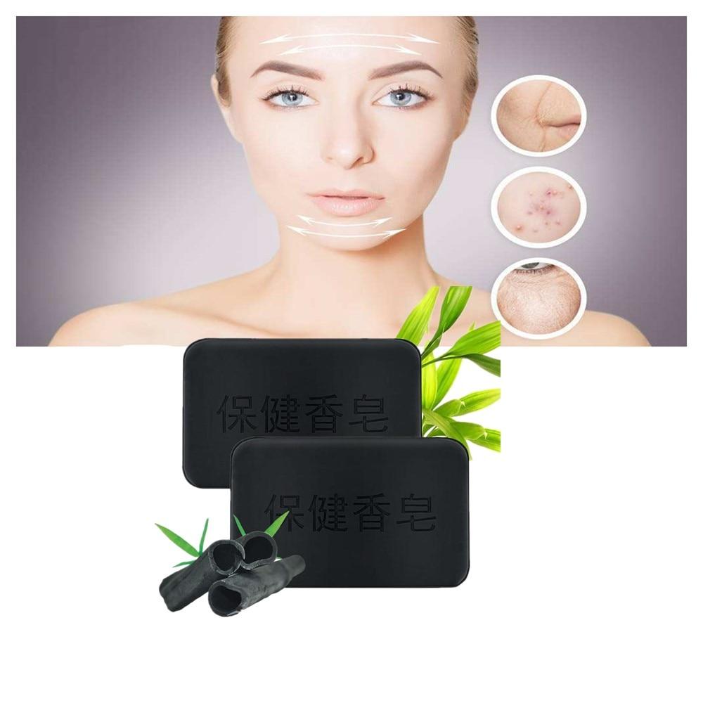 Natural Bamboo Charcoal Bactericidal Soap Acaricidal Tourmaline Antiacne Soap Anti Blackhead Healthy Care Active Energy Charcoal