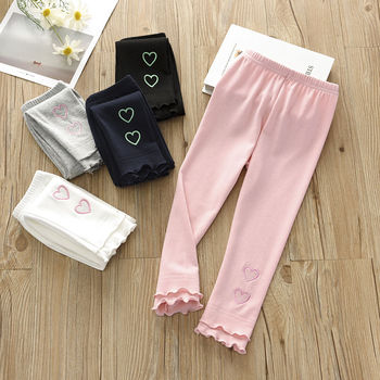 Vidmid Girls Cotton Casual Leggings Cropped Pants Baby Wear Elastic Summer Thin Section Children's Modal  Trousers Clothes P211 1