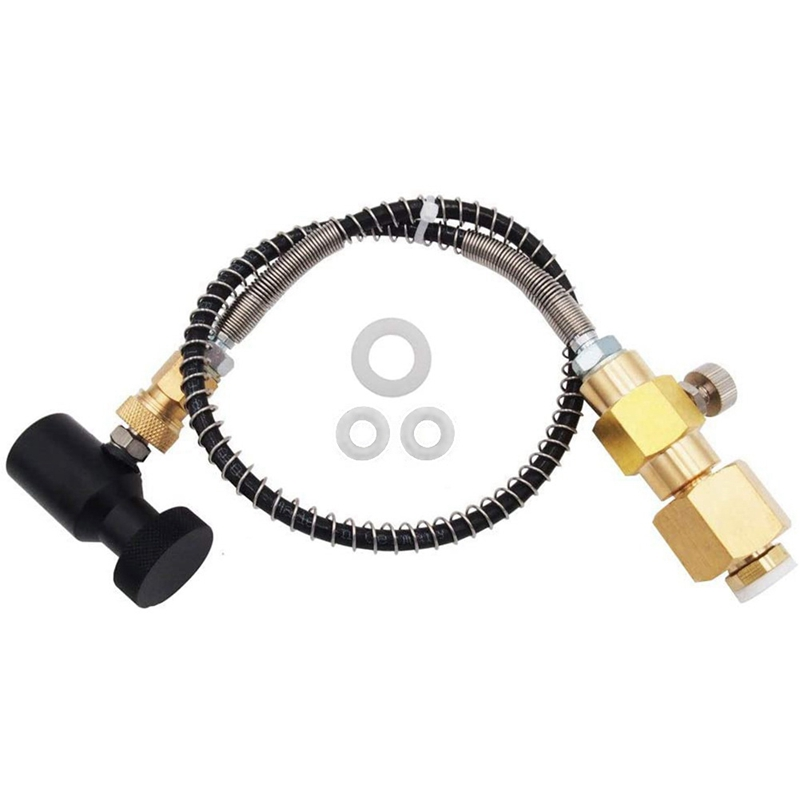 Soda Stream CO2 Cartridges Refill Exchange Adapter Bottle Connector Soda with Hose for Filling Sodastream CGA320 Tank