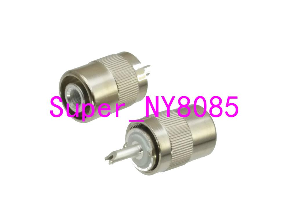 Connector UHF Male PL259 Plug Solder RG58 RG142 LMR195 RG400 RF Cable Silver