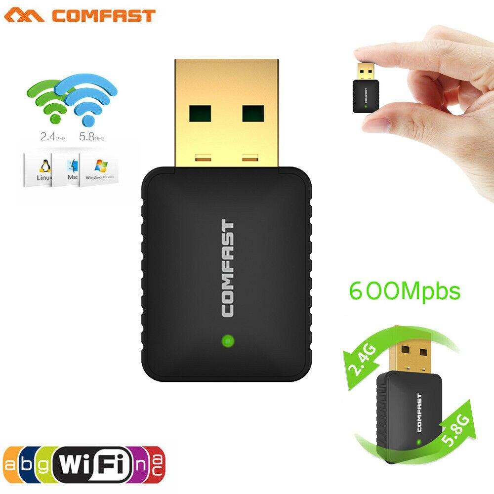 HIPERDEAL Mini 600Mbps WIFI 802.11n USB Wireless LAN Card For PC Laptop Dongle Windows 10 8 7 MAC OS 19Jul25