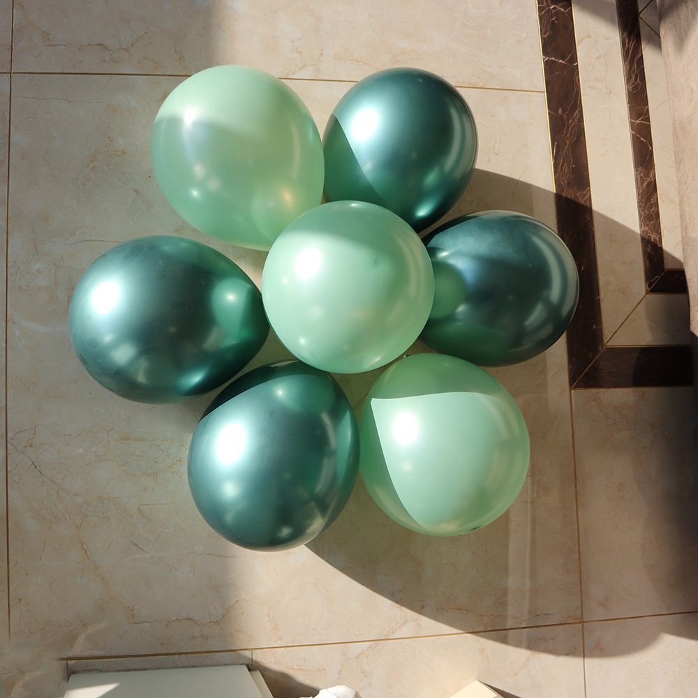 10inch bean green pearl balloons forest green metallic balloon 50/100pcs globos Wedding <font><b>Birthday</b></font> event party <font><b>decoration</b></font> image
