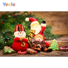 Yeele Christmas Photocall Pine Snowman Biscuits Photography Backdrops Personalized Photographic Backgrounds For Photo Studio
