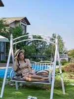Outdoor swing outdoor courtyard double-chair iron art adult indoor hanging chair balcony