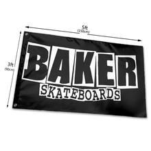 Logo de skateboard de boulanger, noir, Style surdimensionné M 2Xl, bon marché, Promotion, en coton, tout nouveau drapeau Pop