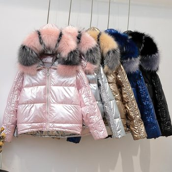 2020 New Fur Collars Jacket Hooded Down Jacket for Women New Winter Coat Women Bright Faced High Quality Winter Jacket цена 2017