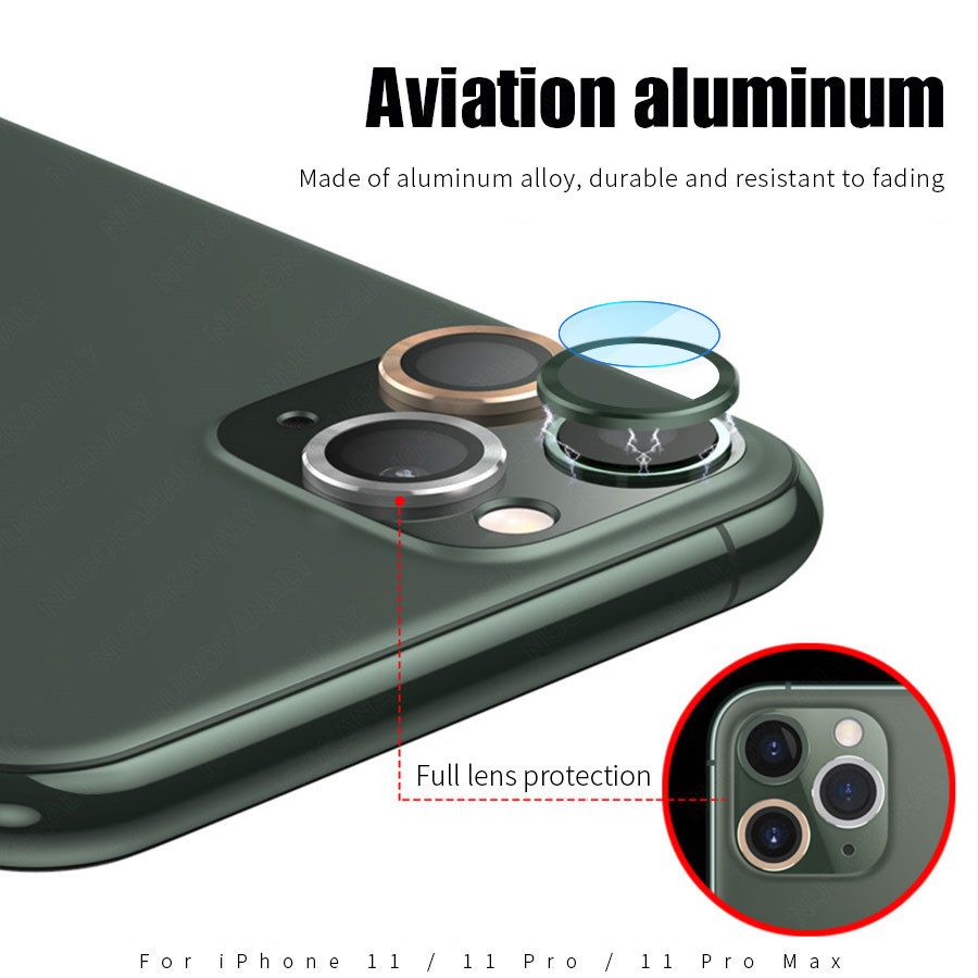Camera Lens Screen Protector Glass For iPhone 11 Pro Max Case Rear Camera Ring Back Cover Protection 2