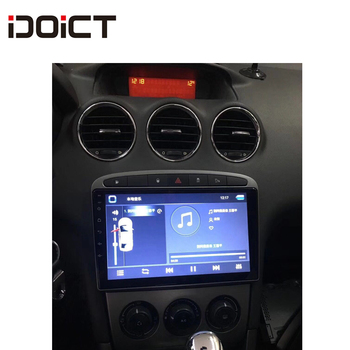 IDOICT Android 8.1 Car DVD Player GPS Navi for Peugeot 408 for Peugeot 308 308SW Audio Radio Stereo Head Unit image