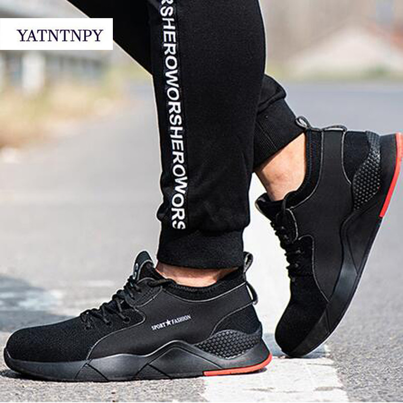 Male Steel Toe Work Safety Shoes Camouflage Men Boots Breathable Outdoor Casual Sneaker Anti-smashing Piercing Work Safety Boot