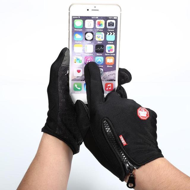 Outdoor Winter Windstopper Gloves Full Finger Gloves Men Women Touch Screen Gloves Bicycle Gloves Winter Warm Mittens 6