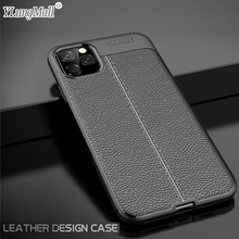 Luxury Skin Leather Case on for Coque iPhone 11 Pro Max 2019 Case iPhone 8 7 6 6s Plus XS Max XR X Case Soft Silicone Back Cover new for iphone 11 pro max case xs max xr for iphone x 6 7 8 plus 6s luxury vintage pu leather back ultra thin case cover coque