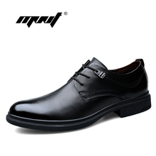 Full Grain Leather Men Dress Shoes British Style Comfortable Breathable Oxford Wedding