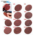 10pcs 125mm Sanding Discs 8 Hole Hook Loop Sandpaper 40Grit-3000Grit Sanding Paper Sanding Disc Abrasive Polishing Tools
