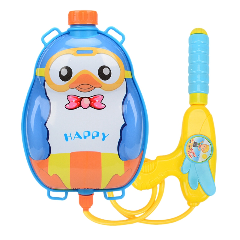 Water Jet Impact Water Jet Toy Summer Swimming Beach Water Game Toy Cartoon Outdoor Water Toy Beach Nozzle Backpack Set