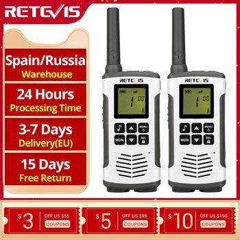 Retevis RT45 PMR Radio Walkie Talkie 2 pcs PMR PMR446 FRS Handy Two-Way Radio Communicator Family Walkie-Talkie Walkie-talkies 1