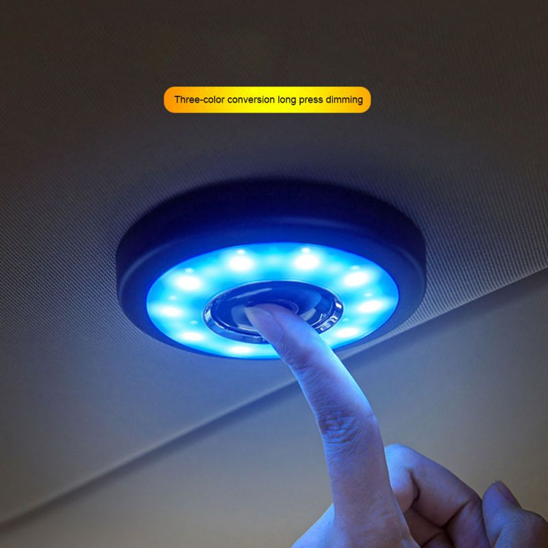Universal USB Rechargeable LED Car Reading Light Interior Roof Lamp LED Car Styling Night Light