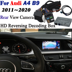 Kamera cofania dla Audi A4 B9 2011 ~ 2020 adapter interfejsu Backup Parking widok z tyłu samochodu kamera podłącz oryginalny ekran MMI dekoder w Kamery pojazdowe od Samochody i motocykle na