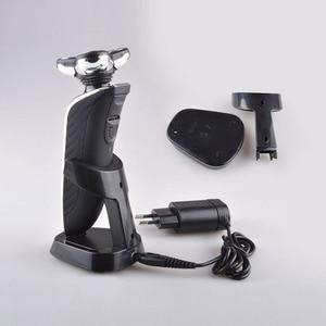 Image 5 - Golarka elektryczna Kemei 4D pływające potrójne ostrze elektryczne maszynki do golenia mężczyzn pielęgnacja twarzy zmywalny akumulator 4 w 1 trymer do włosów 40D