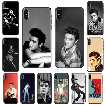 Elvis Presley Phone case For iphone 4 4s 5 5S SE 5C 6 6S 7 8 plus X XS XR 11 PRO MAX 2020 black tpu shell fashion Etui pretty image