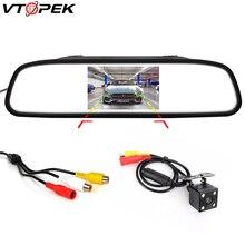 Vtopek 4.3 LCD Display Car Monitor TFT Rear View Parking Rearview System for Night Vision Reverse Camera NTSC PAL