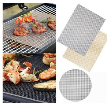 ^Non-stick BBQ Grill Mat 40*33cm Baking Mat Cooking Grilling Sheet Heat Resistance Easily Cleaned Kitchen For Party #15 image