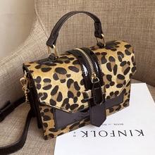 Sac à main Vintage léopard pour femmes, sacoche pour femmes, sacoche à bandoulière fourre tout à chaîne, sac à bandoulière de luxe, pochettes de styliste, 2020