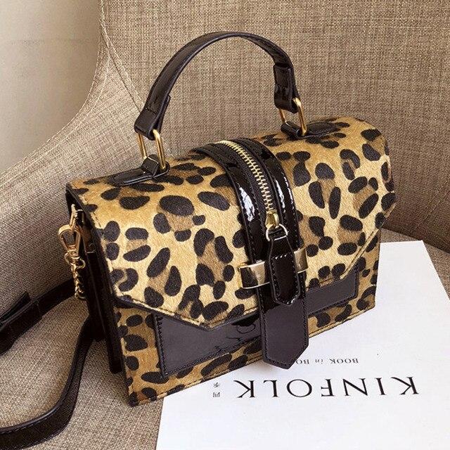 Vintage Leopard Crossbodyกระเป๋าสำหรับสตรี2020 Chain Messengerกระเป๋าหญิงสลิงLuxuryกระเป๋าและกระเป๋าถือ
