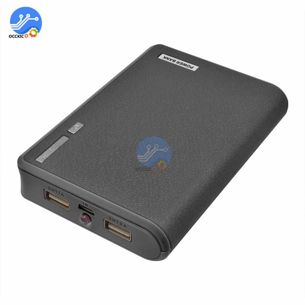 حافظة بطاريات صناديق 4X18650 USB حافظة بطاريات الطاقة حامل الصندوق يؤدي قوة البنك 18650 صندوق حامل البطارية المنظم