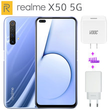 Original Realme X50 5G Mobile Phone 64GB/256G/128G ROM 6.57