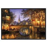 Diamond Painting 5D DIY scenery print Embroidery Painting natural in reflection canvas Rhinestone bright color 30X40cm 67