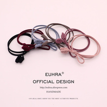 EUHRA 6 Colors Classic Handmade Wheat Ears Elastic Hair Bands High Quality For Women Girls Band Kid Children Rubber Accessories
